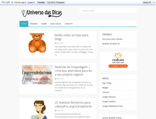 universodasdicas.com screenshot