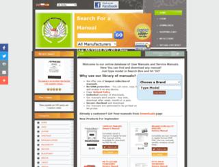 universum.owner-manuals.com screenshot