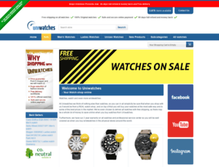 uniwatches.co.uk screenshot