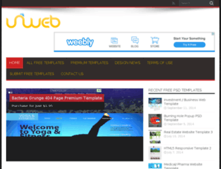 uniwebtemplates.com screenshot