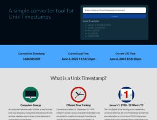 unixtimestampconverter.com screenshot