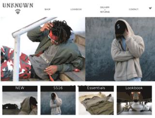 unknownlondon.bigcartel.com screenshot