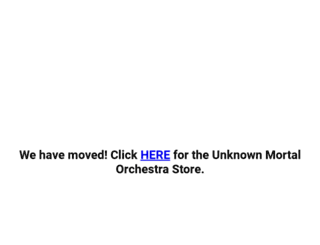 unknownmortalorchestra.store-08.com screenshot