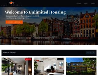 unlimitedhousing.nl screenshot