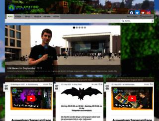 unlimitedworld.de screenshot