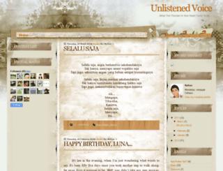 unlistened-voice.blogspot.com screenshot