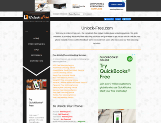 unlock-free.com screenshot