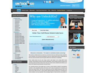 unlock2go.com screenshot