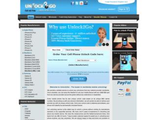 unlock2go.com screenshot
