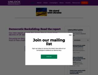 unlockdemocracy.org.uk screenshot