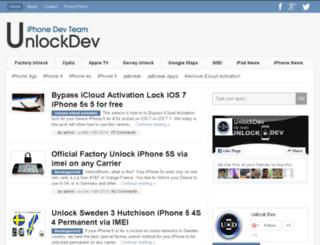 unlockdev.com screenshot