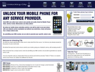 unlockingcity.com screenshot