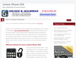 unlockiphone3gs.net screenshot