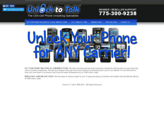unlocktotalk.com screenshot