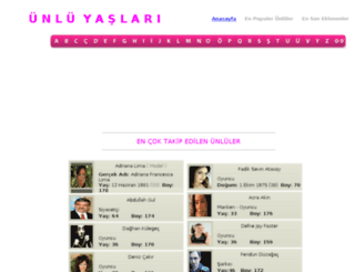 unluyaslari.com screenshot