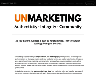 unmarketing.com screenshot
