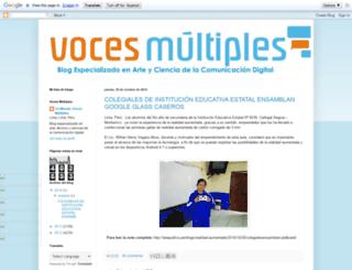 unmundovocesmultiples.blogspot.com.es screenshot