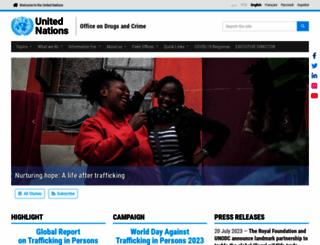 unodc.org screenshot