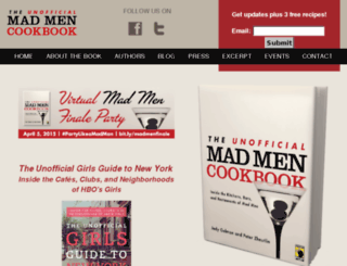 unofficialmadmencookbook.com screenshot