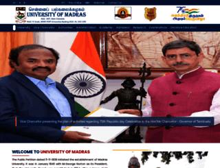 unom.ac.in screenshot