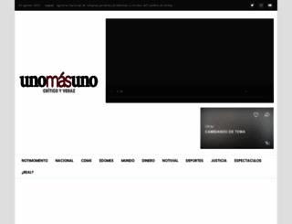 unomasuno.com.mx screenshot