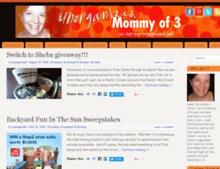 unorganizedmommyof3.com screenshot