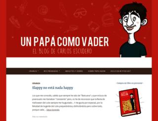 unpapacomovader.wordpress.com screenshot