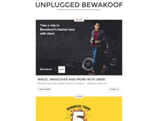 unplugged.bewakoof.com screenshot