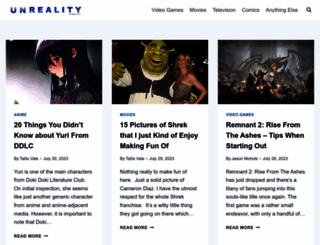 unrealitymag.com screenshot