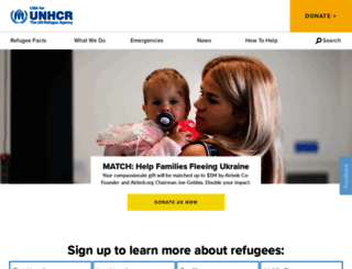 unrefugees.org screenshot