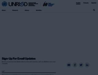 unrisd.org screenshot