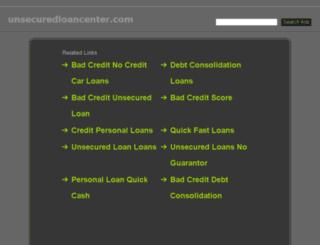 unsecuredloancenter.com screenshot