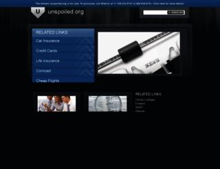 unspoiled.org screenshot