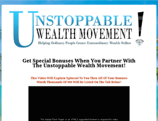 unstoppablewealthmovement.com screenshot