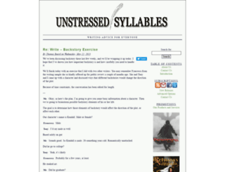 unstressedsyllables.com screenshot