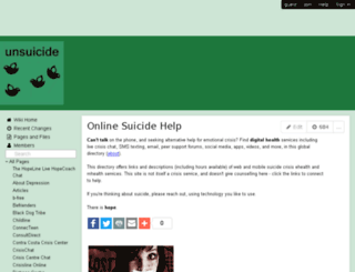 unsuicide.wikispaces.com screenshot