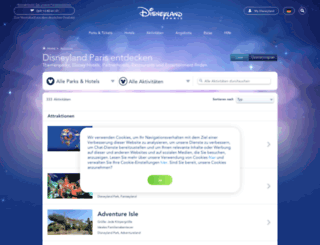unterhaltung.disneylandparis.de screenshot