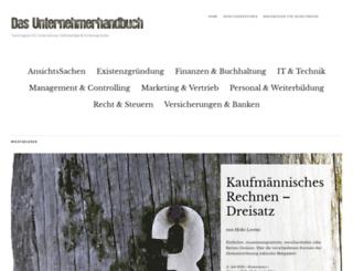 unternehmerhandbuch.wordpress.com screenshot