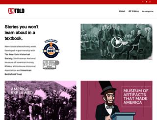 untoldhistory.org screenshot