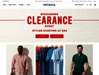 untuckit.com screenshot