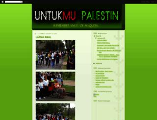 untukmupalestin.blogspot.com screenshot