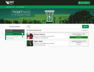 untuniontickets.universitytickets.com screenshot