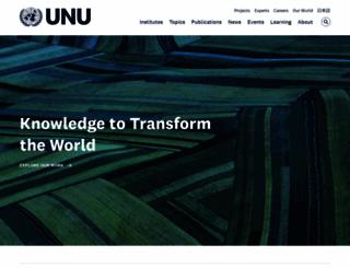 unu.edu screenshot