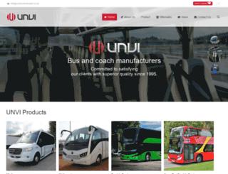 unvibusandcoach.co.uk screenshot