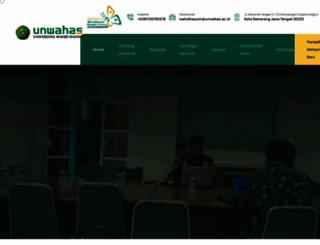 unwahas.ac.id screenshot