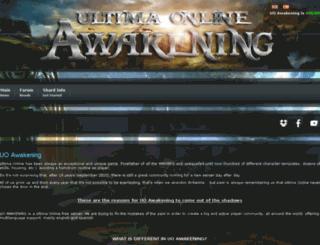 uoawakening.com screenshot