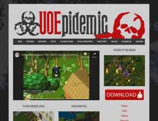 uoepidemic.com screenshot