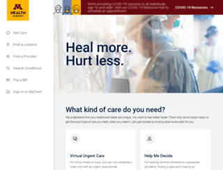 uofmchildrenshospital.org screenshot