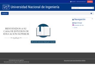 uolmoodle.uni.edu.ni screenshot