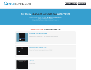 up-against.niceboard.com screenshot